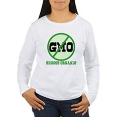 Say No to GMO Womens Long Sleeve T-Shirt