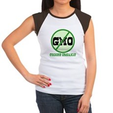 Say No to GMO Womens Cap Sleeve T-Shirt