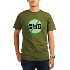 Say No to GMO Organic Mens Dark T-Shirt