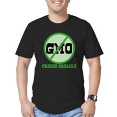 Say No to GMO Mens Fitted Dark T-Shirt