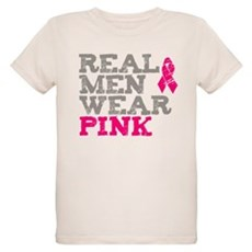 Real Men Wear Pink Organic Kids T-Shirt