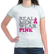 Real Men Wear Pink Jr Ringer T-Shirt