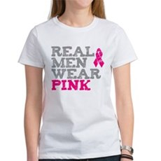 Real Men Wear Pink Womens T-Shirt