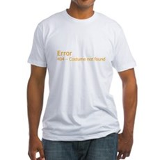Costume Not Found Fitted T-Shirt