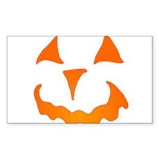 Pumpkin Face Rectangle Sticker