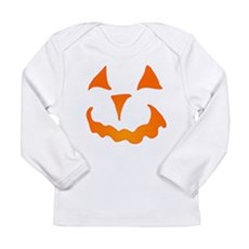 Pumpkin Face Long Sleeve Infant T-Shirt