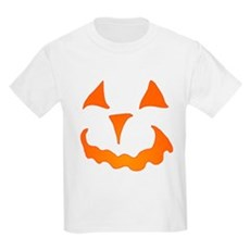 Pumpkin Face Kids Light T-Shirt