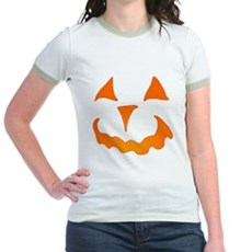 Pumpkin Face Jr Ringer T-Shirt