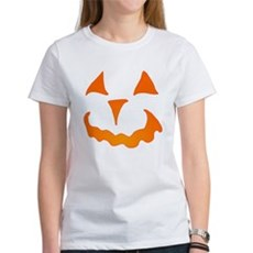 Pumpkin Face Womens T-Shirt