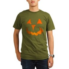 Pumpkin Face Organic Mens Dark T-Shirt