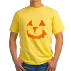 Pumpkin Face Yellow T-Shirt