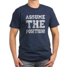 Assume the Position Mens Fitted Dark T-Shirt