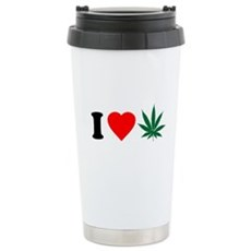 I Love Weed Stainless Steel Travel Mug