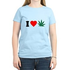 I Love Weed Womens Light T-Shirt