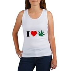 I Love Weed Womens Tank Top