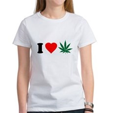 I Love Weed Womens T-Shirt
