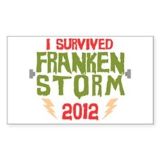 I Survived Frankenstorm Rectangle Sticker