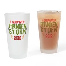 I Survived Frankenstorm Drinking Glass