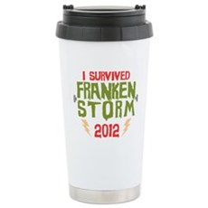 I Survived Frankenstorm Stainless Steel Travel Mug