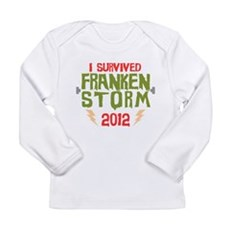 I Survived Frankenstorm Long Sleeve Infant T-Shirt