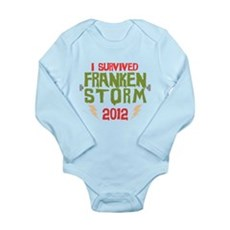 I Survived Frankenstorm Long Sleeve Infant Bodysui