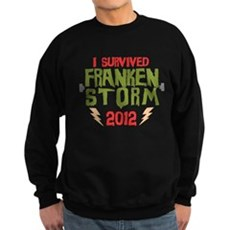 I Survived Frankenstorm Dark Sweatshirt