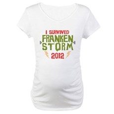 I Survived Frankenstorm Maternity T-Shirt