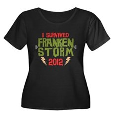 I Survived Frankenstorm Womens Plus Size Scoop Ne