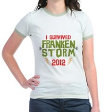 I Survived Frankenstorm Jr Ringer T-Shirt
