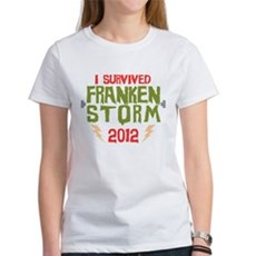 I Survived Frankenstorm Womens T-Shirt