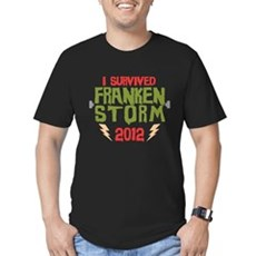 I Survived Frankenstorm Mens Fitted Dark T-Shirt