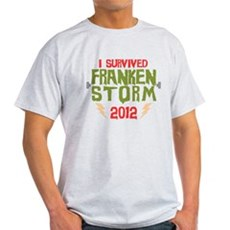 I Survived Frankenstorm Light T-Shirt