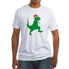 Santasaurus Fitted T-Shirt
