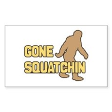 Gone Squatchin Rectangle Sticker