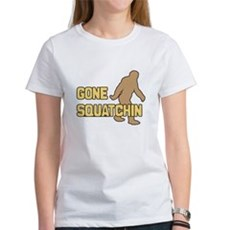 Gone Squatchin Womens T-Shirt
