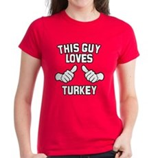 This Guy Loves Turkey Womens T-Shirt