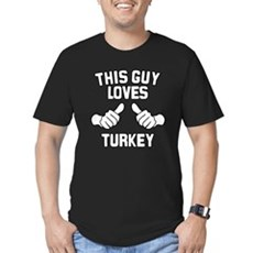 This Guy Loves Turkey Mens Fitted Dark T-Shirt