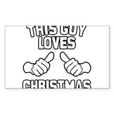 This Guy Loves Christmas Rectangle Sticker