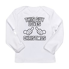 This Guy Loves Christmas Long Sleeve Infant T-Shir