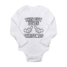 This Guy Loves Christmas Long Sleeve Infant Bodysu