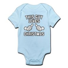 This Guy Loves Christmas Infant Bodysuit