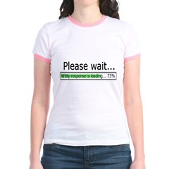 Please Wait Jr. Ringer T-Shirt