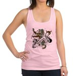 Anderson Tartan Lion Racerback Tank Top - Scottish lion rampant with the Anderson clan tartan and a banner with the family name. - Availble Sizes:X-Small,Small,Medium,Large - Availble Colors: White,Striped Heather Grey,Light Pink