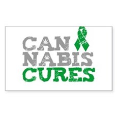 Cannabis Cures Rectangle Sticker