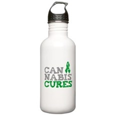 Cannabis Cures Stainless Water Bottle 1 Liter