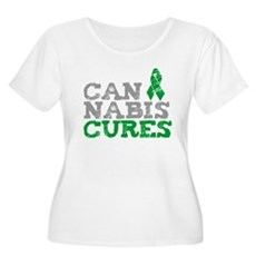 Cannabis Cures Womens Plus Size Scoop Neck T-Shir