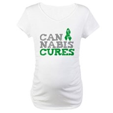 Cannabis Cures Maternity T-Shirt