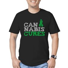 Cannabis Cures Mens Fitted Dark T-Shirt