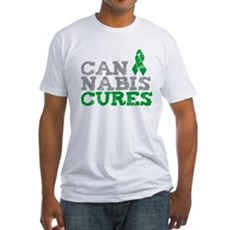 Cannabis Cures Fitted T-Shirt