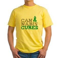 Cannabis Cures Yellow T-Shirt